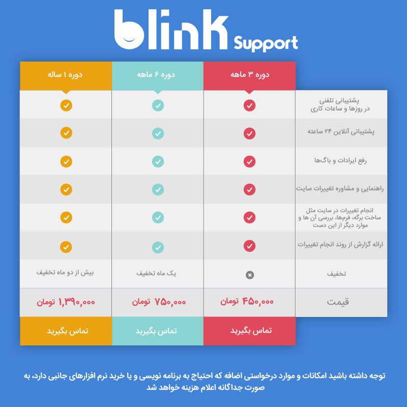 blinkSupport 3 1 - سفارش پکیج های پشتیبانی وبسایت