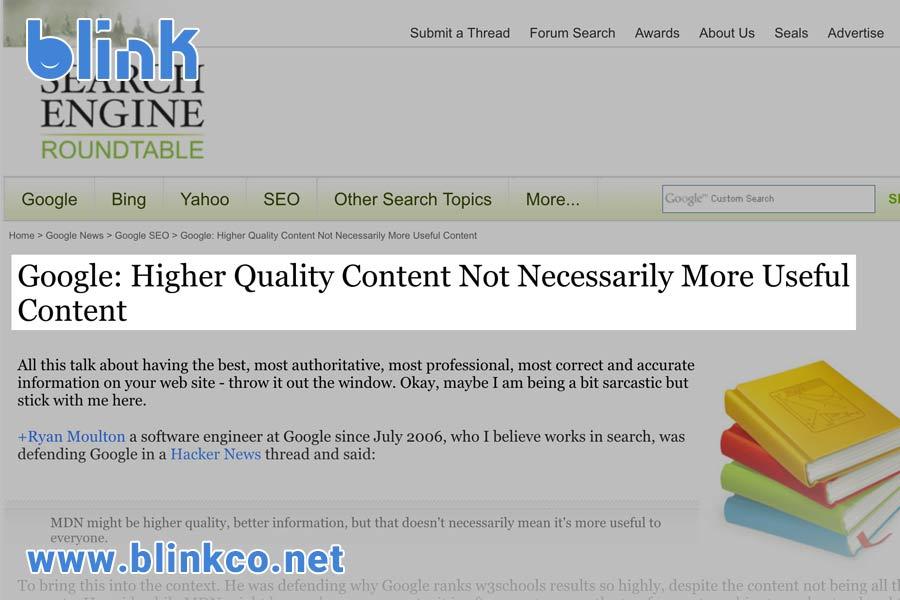 گوگل میگوید محتوای کاربردی بسیار بهتر از محتوای با قدرت و اعتبار است.